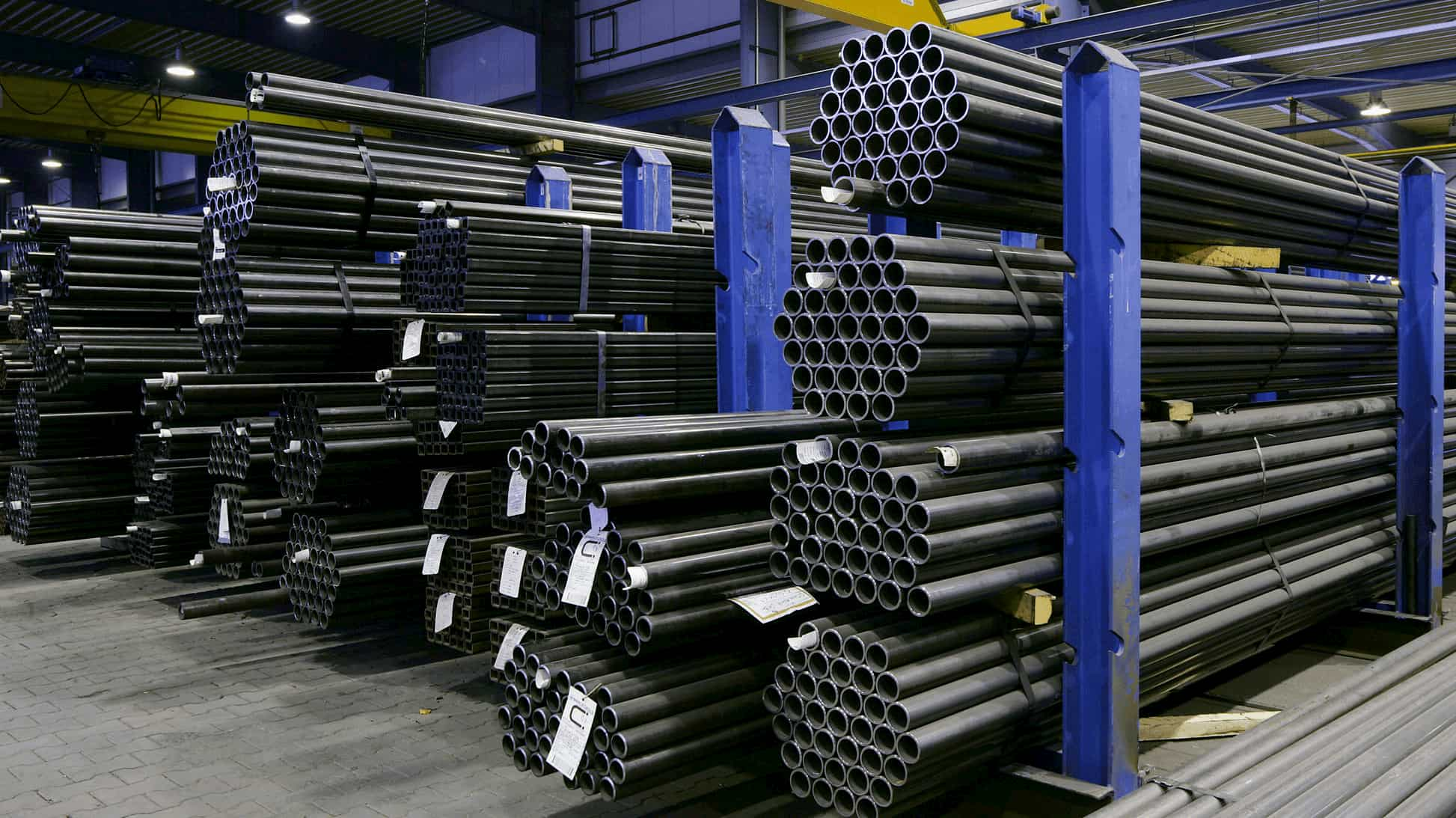 Image of metal bars as a symbol for the Metals industry