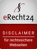 [Translate to Englisch:] eRecht24 Disclaimer