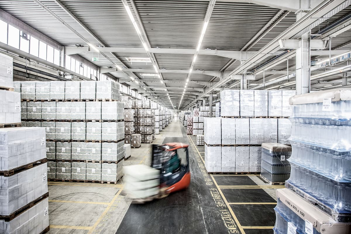 Image of bulk storage in the warehouse