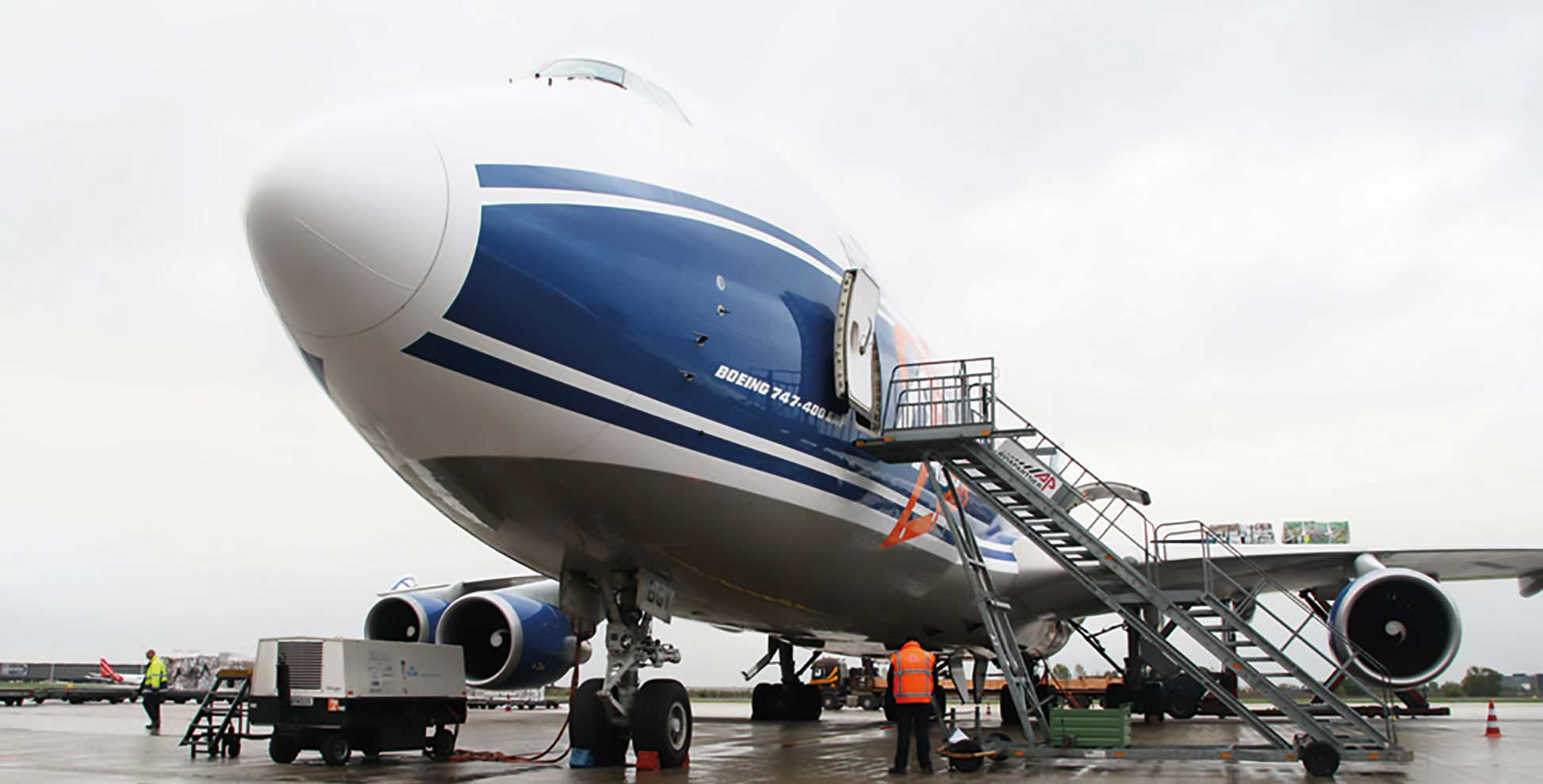 Picture of aircraft during loading
